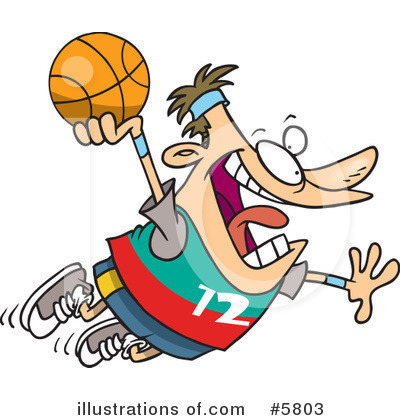 Basketball Clipart #5803 by toonaday