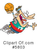 Royalty-Free (RF) Basketball Clipart Illustration #5803