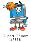Royalty-Free (RF) basketball Clipart Illustration #7838