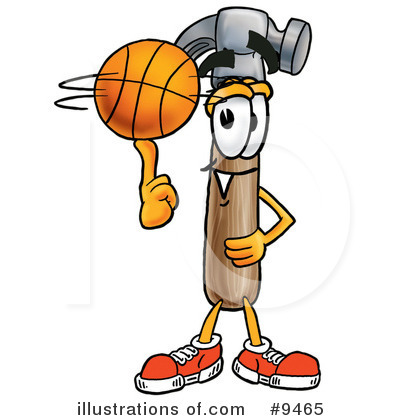 Basketball Clipart #9465 by Toons4Biz