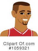 Royalty-Free (RF) Basketball Player Clipart Illustration #1059321