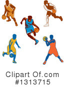 Basketball Player Clipart #1313715 by patrimonio