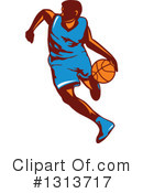 Basketball Player Clipart #1313717 by patrimonio