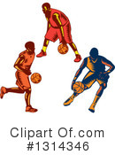 Basketball Player Clipart #1314346 by patrimonio