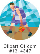 Basketball Player Clipart #1314347 by patrimonio