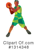 Basketball Player Clipart #1314348 by patrimonio