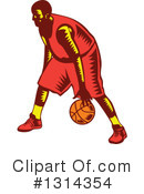 Basketball Player Clipart #1314354 by patrimonio