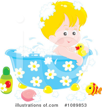 Royalty-Free (RF) Bath Time Clipart Illustration by Alex Bannykh - Stock Sample #1089853