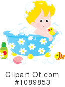 Royalty-Free (RF) bath time Clipart Illustration #1089853