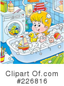 Royalty-Free (RF) bath time Clipart Illustration #226816