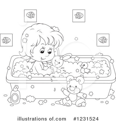 Bath Time Clipart #1231524 by Alex Bannykh
