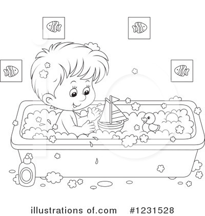 Bath Time Clipart #1231528 by Alex Bannykh