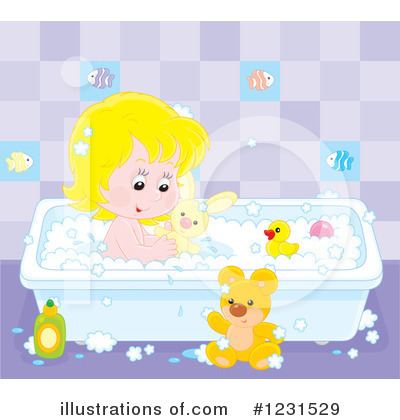 Bath Time Clipart #1231529 by Alex Bannykh