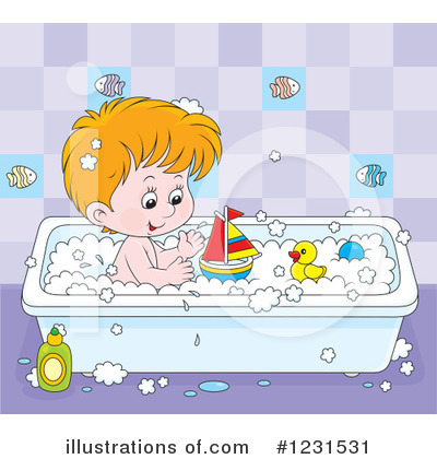 Bath Time Clipart #1231531 by Alex Bannykh