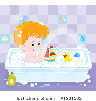Bath Time Clipart #1231532 by Alex Bannykh