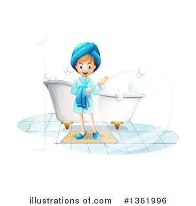 Bathing Clipart #1361996 by Graphics RF