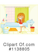 Royalty-Free (RF) Bathroom Clipart Illustration #1138805