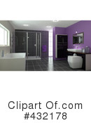 Royalty-Free (RF) Bathroom Clipart Illustration #432178