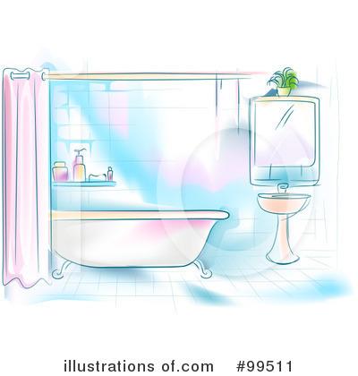 Royalty Free RF Bathroom Clipart Illustration By BNP Design Studio