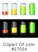 Royalty-Free (RF) Batteries Clipart Illustration #27024