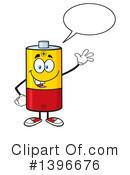 Battery Character Clipart #1396676 by Hit Toon