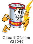 Battery Character Clipart #28046 by Toons4Biz
