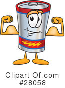 Battery Character Clipart #28058 by Toons4Biz