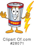 Battery Character Clipart #28071 by Toons4Biz