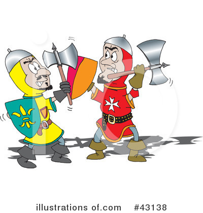 Battle Clipart #43138 - Illustration by Dennis Holmes Designs