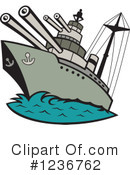 Battleship Clipart #1236762 by patrimonio