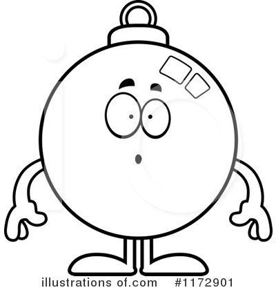 Christmas Bauble Character Clipart #1172901 by Cory Thoman