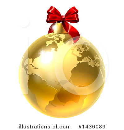Globe Clipart #1436089 by AtStockIllustration