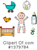 Bbaby Clipart #1379784 by Vector Tradition SM