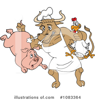 Bull Clipart #1083364 by LaffToon