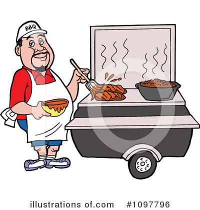 Royalty-Free (RF) Bbq Clipart Illustration by LaffToon - Stock Sample #1097796