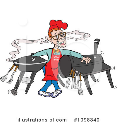 Bbq Smoker Clipart #1098340 by LaffToon