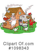 Royalty-Free (RF) bbq Clipart Illustration #1098343