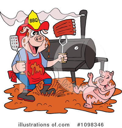 Bbq Smoker Clipart #1098346 by LaffToon