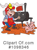 Royalty-Free (RF) bbq Clipart Illustration #1098346