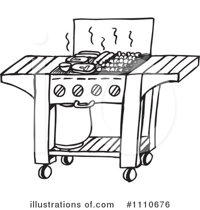 Royalty-Free (RF) Bbq Clipart Illustration by Dennis Holmes Designs - Stock Sample #1110676