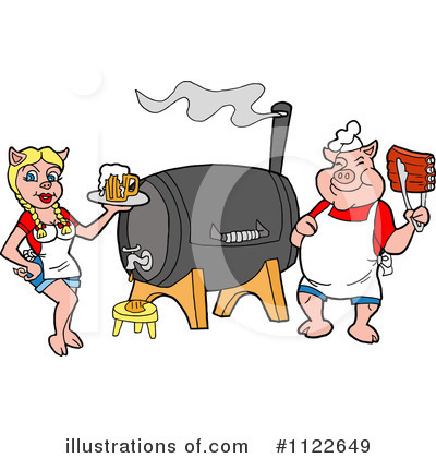 Bbq Smoker Clipart #1122649 by LaffToon