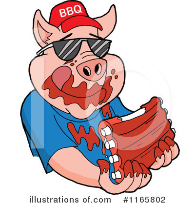 Royalty-Free (RF) Bbq Clipart Illustration by LaffToon - Stock Sample #1165802