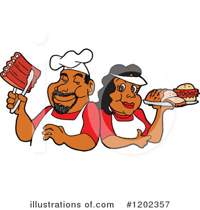 Royalty-Free (RF) Bbq Clipart Illustration by LaffToon - Stock Sample #1202357