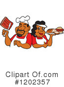 Royalty-Free (RF) Bbq Clipart Illustration #1202357
