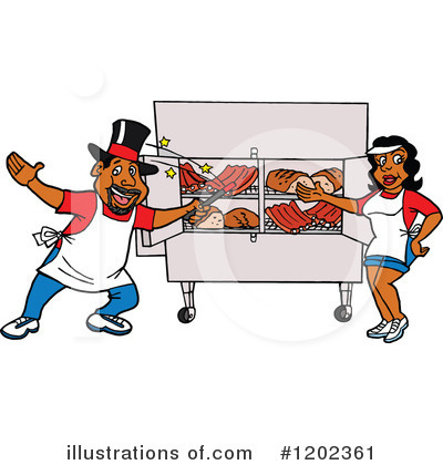 Barbecue Clipart #1202361 by LaffToon