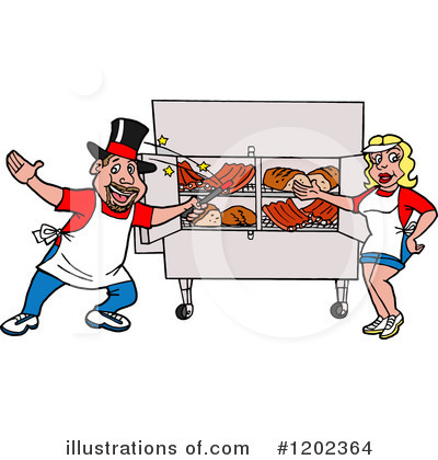 Royalty-Free (RF) Bbq Clipart Illustration by LaffToon - Stock Sample #1202364