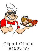 Royalty-Free (RF) Bbq Clipart Illustration #1203777