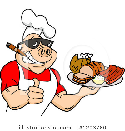 Royalty-Free (RF) Bbq Clipart Illustration by LaffToon - Stock Sample #1203780