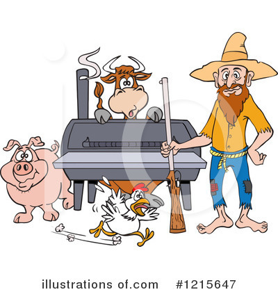 Bbq Smoker Clipart #1215647 by LaffToon