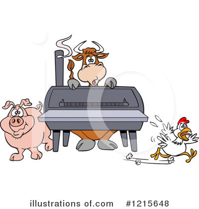 Bbq Smoker Clipart #1215648 by LaffToon
